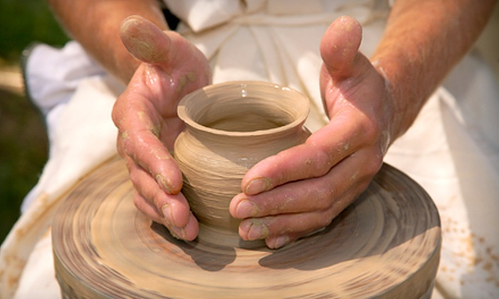 Dahl Arts Studio - Kenmore: One-Hour Pottery-Wheel Ceramics Class for One or Two at Dahl Arts Ceramic Studio in Kenmore (51% Off)