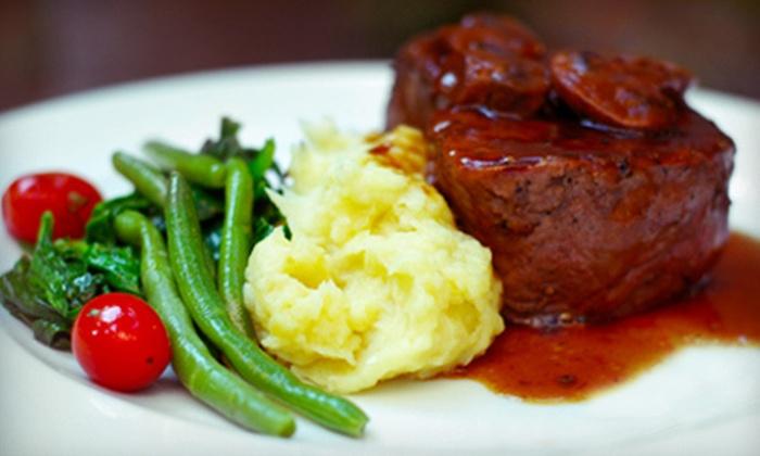 Aquavina - Second Ward: $30 for $60 Worth of Steak and Seafood at Aquavina