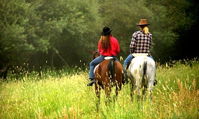 Rocking Lazy K Ranch - East Grayson: Horseback Trail Ride for Two or Four with Steak Dinner and Homemade Pie at Rocking Lazy K Ranch (Up to 65% Off)