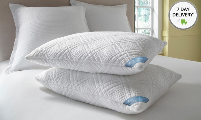 2-Pack of kathy ireland RESORT Memory-Foam Pillows: 2-Pack of kathy ireland RESORT Quilted Memory-Foam Pillows in Jumbo or King from $34.99–$39.99. Free Shipping.