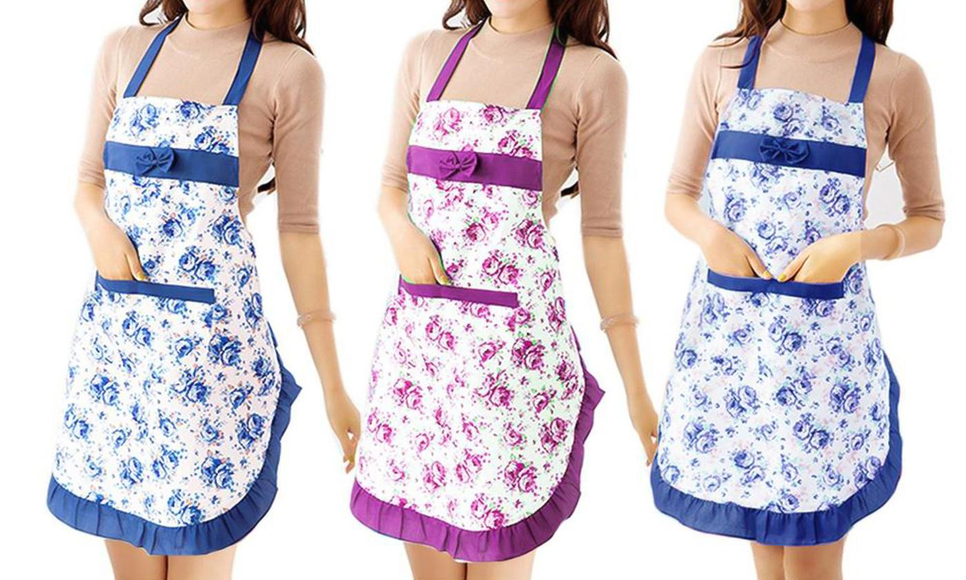 One or Two Floral Print Cooking Aprons