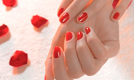 Shellac Manicure or Mani-Pedi, or Keratin Treatment at Yaax Salon & Spa (Up to 51% Off)