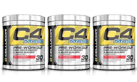 Cellucor C4 Mass Fruit Punch Pre-Workout Supplement (1, 2, or 3-Pack)