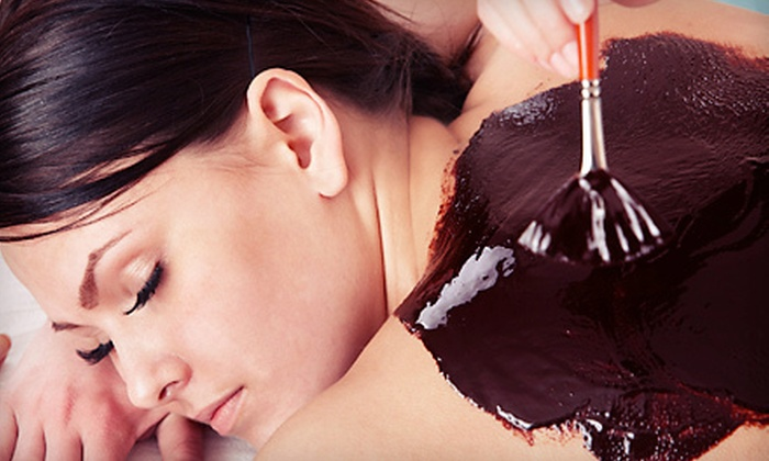 About Face and More - Downtown Portland: $59 for a Pomegranate, Pumpkin, or Chocolate Body Wrap at About Face and More ($135 Value)