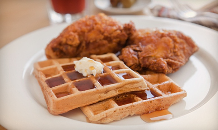 The Pink Tea Cup - Chelsea: Waffle Dinner for Two or Four at The Pink Tea Cup (Up to Half Off)