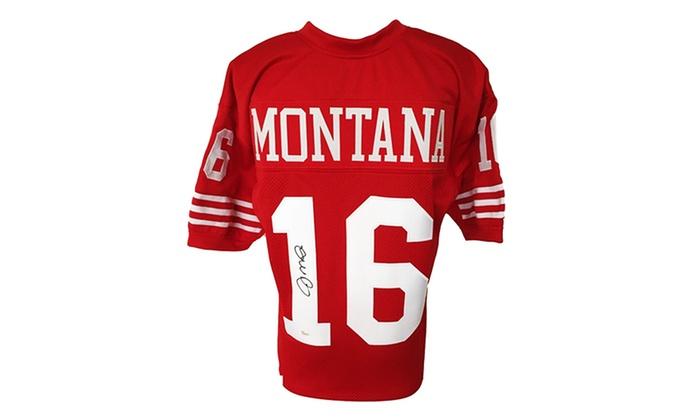 San Francisco 49ers Legend Joe Montana Autographed Football Jersey