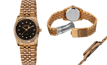 August Steiner Women's Watch with Diamond Dial Markers