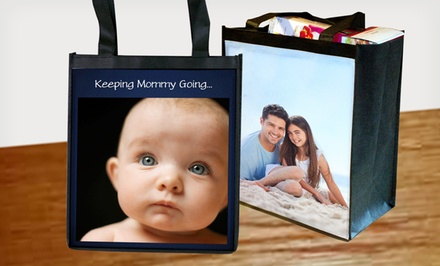 groupon daily deal - 2 Personalized Reusable Grocery Bags from MailPix