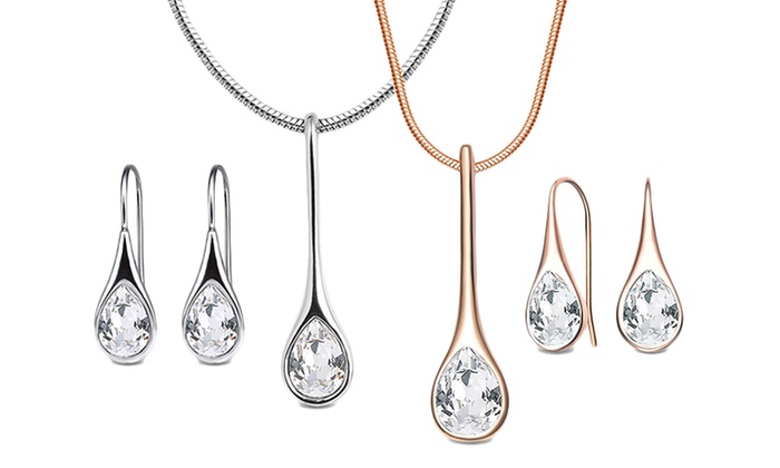 Neverland Sales: Iris Crystal Jewellery Set with Crystals from Swarovski® for €11.99 With Free Delivery (52% Off)