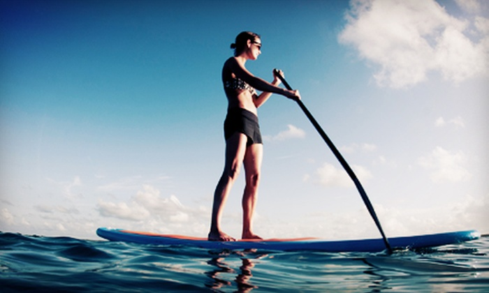 Vancouver Water Adventures - Granville Island : Two-Hour Paddleboard Rental for One or Two Monday–Friday or Any Time at Vancouver Water Adventures (Up to 52% Off)