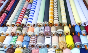 Fabric, Fiber & Finds: Fabric at Fabric, Fiber & Finds (50% Off). Two Options Available.