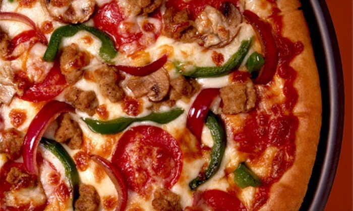 Hawkeyes Lounge - Machesney Park: One Large Pizza with One Pitcher of Beer or Two Large Pizzas with Two Pitchers of Beer at Hawkeyes Lounge (Half Off)