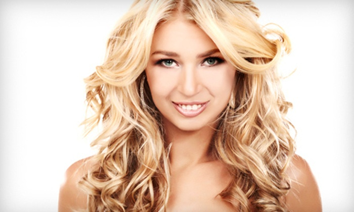 Platinum Hair Studio - Revere Marketplace: Haircut and Style with Optional Scalp Treatment and Keratin Glaze or Highlights at Platinum Hair Studio (Up to 61% Off)