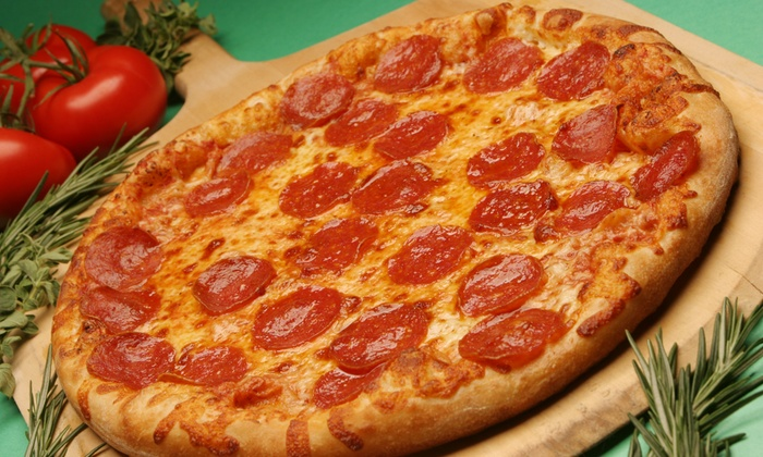 Potomac Pizza - Multiple Locations: $24 for Two Groupons, Each Good for One Large 16-Inch Pizza with Two Toppings at Potomac Pizza ($39.94 Value)