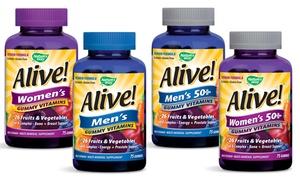 30-Serving Bottles of Alive! Multivitamin Gummies