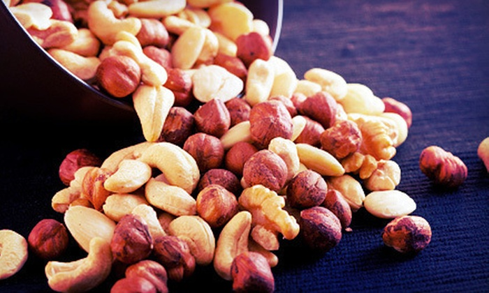 Nutty J's Nut Shack: Cinnamon-Glazed and Roasted Nuts from Nutty J's Nut Shack (Half Off). Two Options Available