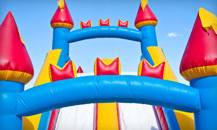 Jumping Panda - Jumping Panda: Birthday Package with Five-Hour Bounce-House or Wet or Dry Slide Rental from Jumping Panda (Up to 57% Off)