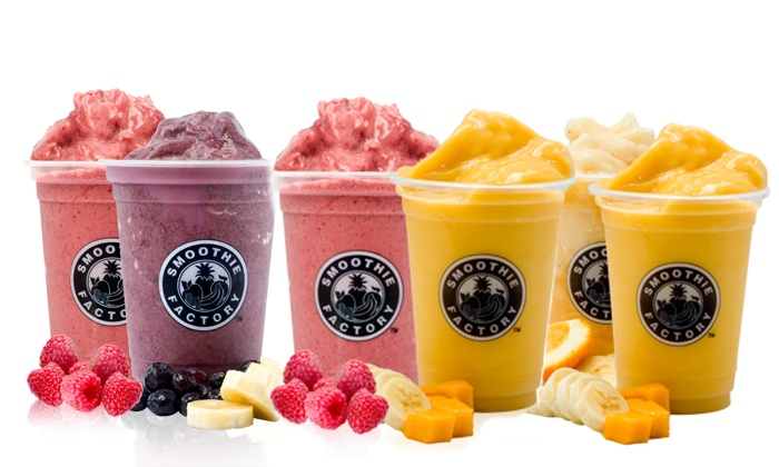 Smoothie Factory - Riverpark Shopping Center: $15 for Three $10 Smoothie Vouchers at Smoothie Factory ($30 Value)