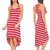 Esti Couture High-Low Striped Dress