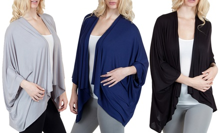 Agiato Women's Draped Cardigan