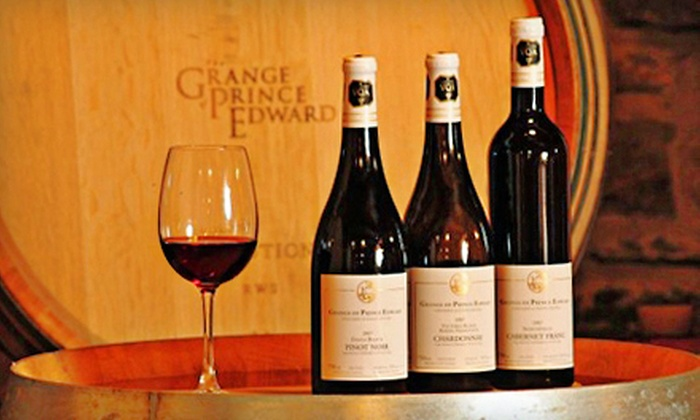 The Grange of Prince Edward Vineyards and Estate Winery - Hillier: Winery Tour for Two, Four, or Six at The Grange of Prince Edward Vineyards and Estate Winery in Hillier (Up to 54% Off)
