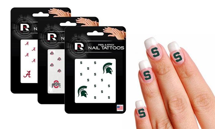 NCAA Nail Tattoos