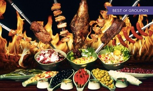 Villa Rodizio Berlin: Rodizio All-you-can-eat in 10 Gängen mit Buffet u. Dessert für 1 Pers. in der Villa Rodizio Berlin (bis zu 30% sparen*)