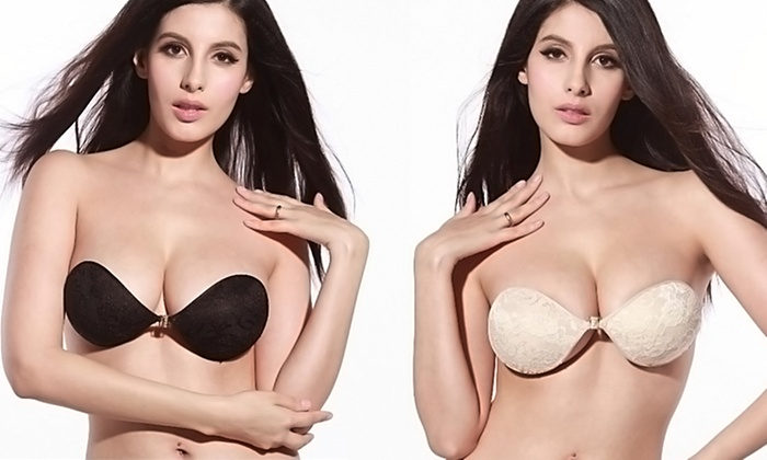 Bra Society Self-Adhesive Strapless and Backless Push-Up Bras (Buy One Get One)