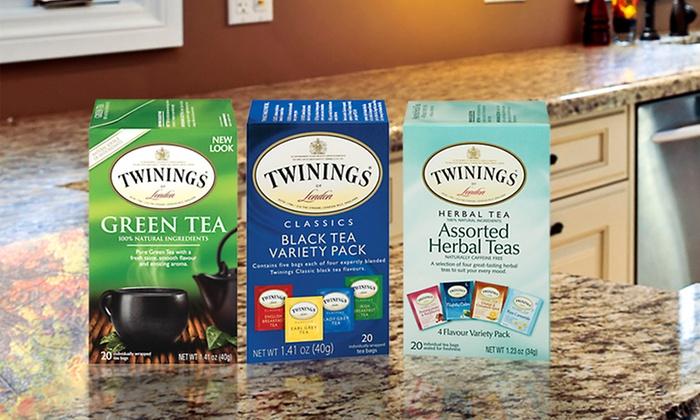 120 Bags of Twinings Tea: 120 Bags of Twinings Tea with Herbal, Green, and Black Varieties
