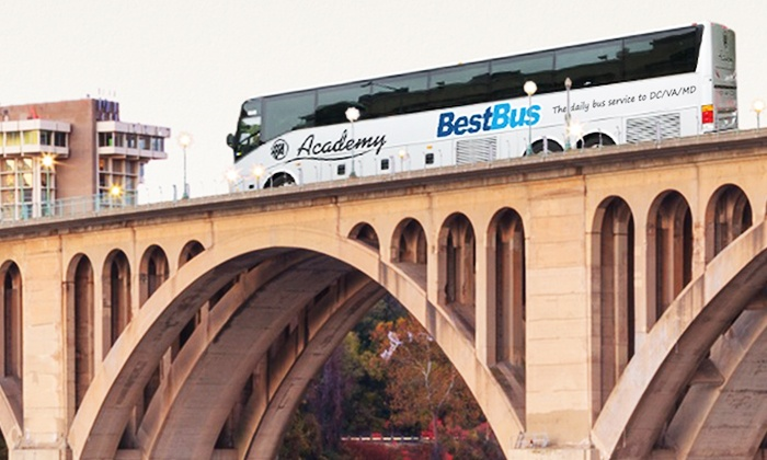 BestBus - Times Square: Round-Trip Bus Ride to Washington, DC or Virginia from New York from BestBus (Up to 57% Off)