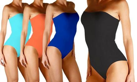 1 ou 2 maillots de bain bustiers amincissants zéro défaut, coloris au choix dès 24,90€