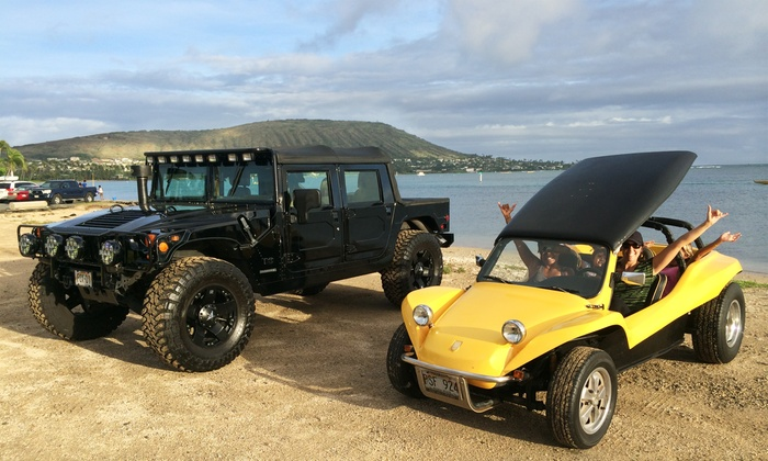 The Hawaiian Adventure Company - Kalihi - Palama: Half-Day Dune-Buggy or Hummer Island Tour for Two or Three from The Hawaiian Adventure Company (47% Off)