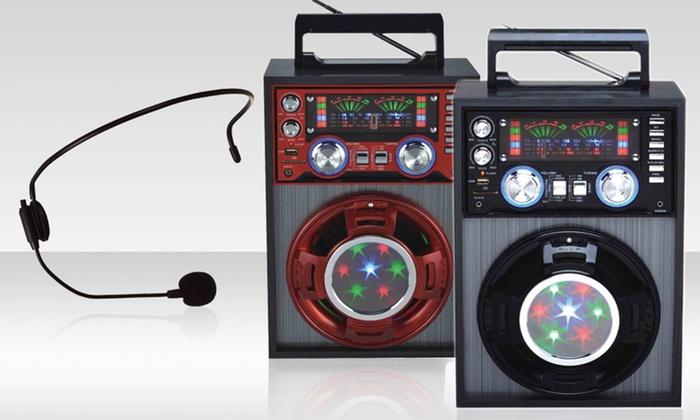 Qfx Mini Karaoke Pa Speaker System Groupon