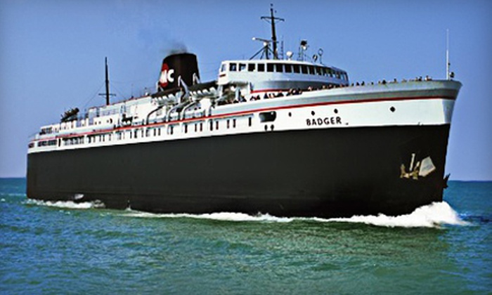 "SS. Badger Lake Michigan Carferry - Multiple Locations: $162 for a Round-Trip Mini-Cruise for Two Adults from the ""S.S. Badger"" Lake Michigan Carferry ($325.95 Value)"