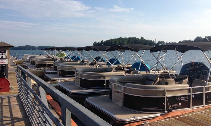 Fish Tales Watersports - Lake Lanier- Gas Dock at Aqualand Marina: Pontoon Boat or Jet Ski Rental from Fish Tales Watersports on Lake Lanier (Up to 50% Off).