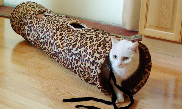 Pet Fun Tunnels: $22 for 52-Inch ABO Gear Fabric Pet Fun Tunnel in Chocolate or Leopard ($39.99 Value). Free Shipping and Free Returns.