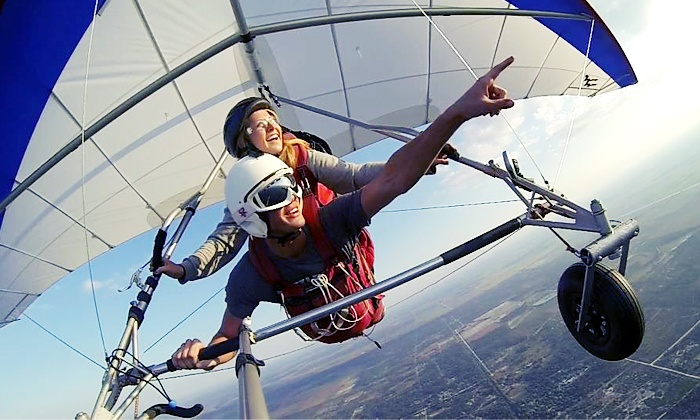 Hang Gliding Tampa - The Florida Ridge Sports Air Park: Tandem Hang-Gliding Flight Package for One or Two at Hang Gliding Tampa (Up to 60% Off)
