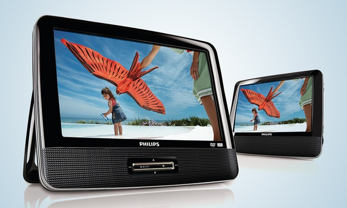 """Philips Portable 9"""" Dual-Screen DVD Player: Philips Portable 9"""" Dual-Screen DVD Player (PD9012M/37)."""