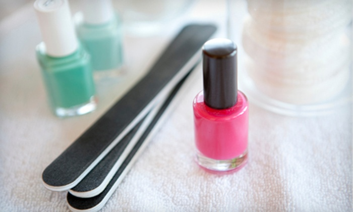 A Froma Nail Spa - Nob Hill: $35 for a Spa Mani-Pedi with Complimentary Hot-Stone Massage and Paraffin Dip at A Froma Nail Spa ($70 Value)
