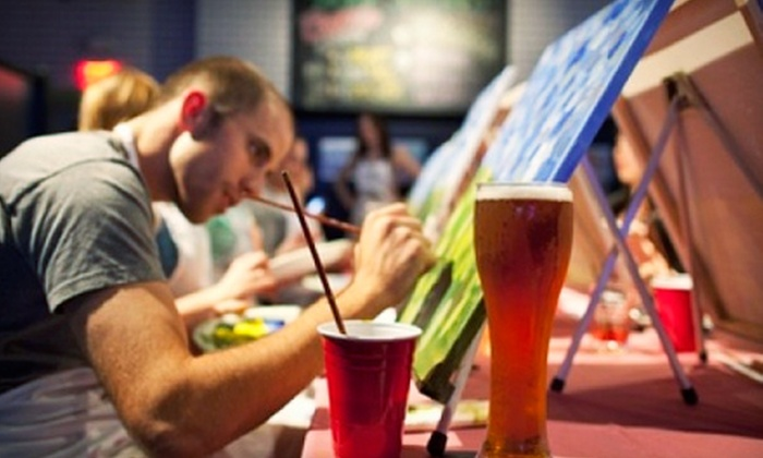 Paint Nite Hartford - Wood-n-Tap Hartford: $22 for a Painting Party from Paint Nite Hartford ($45 Value)