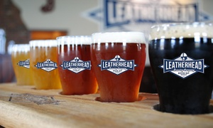 $13 for $25 at Leatherhead Brewing Company at Leatherhead Brewing Company, plus 6.0% Cash Back from Ebates.