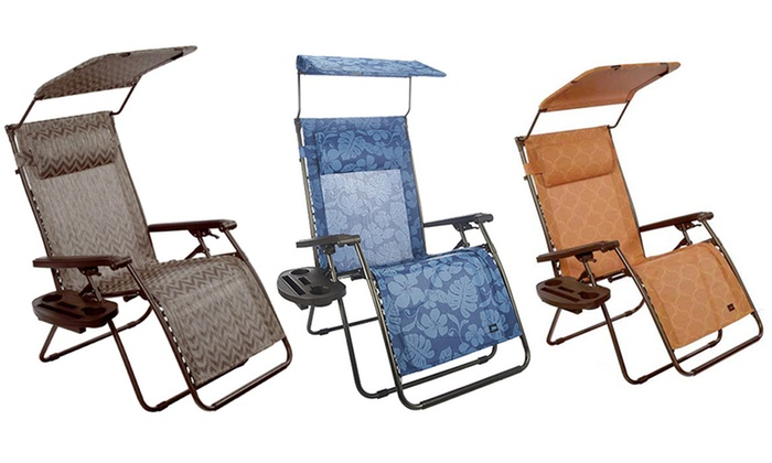 ... Bliss Deluxe XL Zero Gravity Recliner Chair with Canopy Pillow and Tray Table ...  sc 1 st  Groupon & Bliss Deluxe XL Zero Gravity Recliner Chair with Canopy | Groupon islam-shia.org
