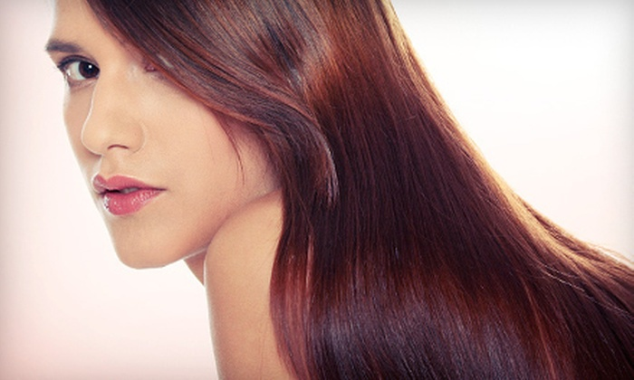 Headz Up Salon - West Side: Haircut and Full Highlights, or Keratin Treatment at Headz Up Salon (Up to 67% Off)