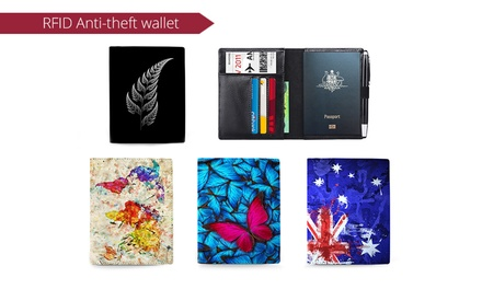 RFID Blocking Genuine Leather Passport Wallet: One $19, Two $29 or Four $45