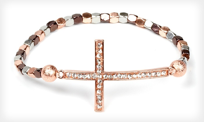 J'adore Bijoux Cross Bead Bracelet: $9 for a J'adore Bijoux Cross Bead Bracelet ($50 List Price). 18 Options Available. Free Returns.
