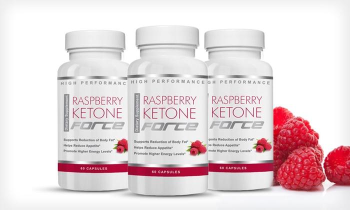 Raspberry Ketone Force: One, Two, or Three Bottles of Raspberry Ketone Force (Up to 81% Off). Free Shipping.