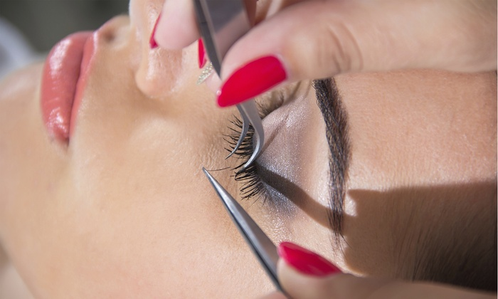 The Pink Salon Strands - Germantown: One or Two Full Sets Of Eyelash Extensions with Refills at The Pink Salon Strands (Up to 56% Off)