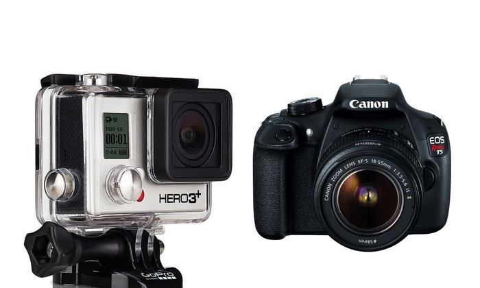 Groupon Chicago: Enter to Win a GoPro Camcorder and Canon EOS Rebel Camera Bundle