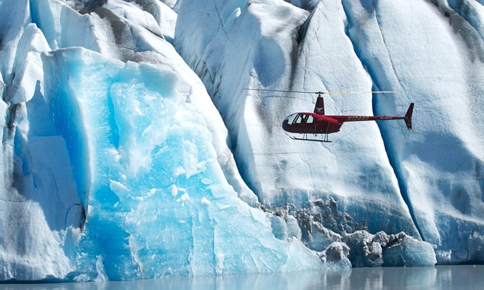 Knik River Lodge - Knik Glacier, AK: Helicopter Flight with Glacier Landing for One or Three from Knik River Lodge (51% Off)