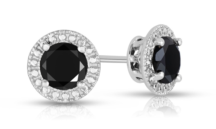 2 00 Cttw Black Diamond Earrings